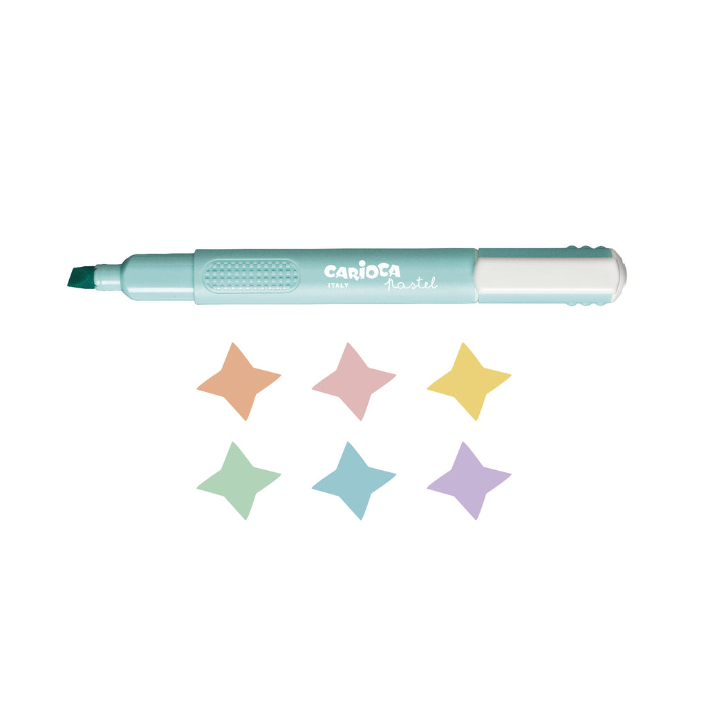 Evidenziatori Inchiostro Pastello Punta Scalpello PASTEL HIGHLIGHTERS - 6 pz