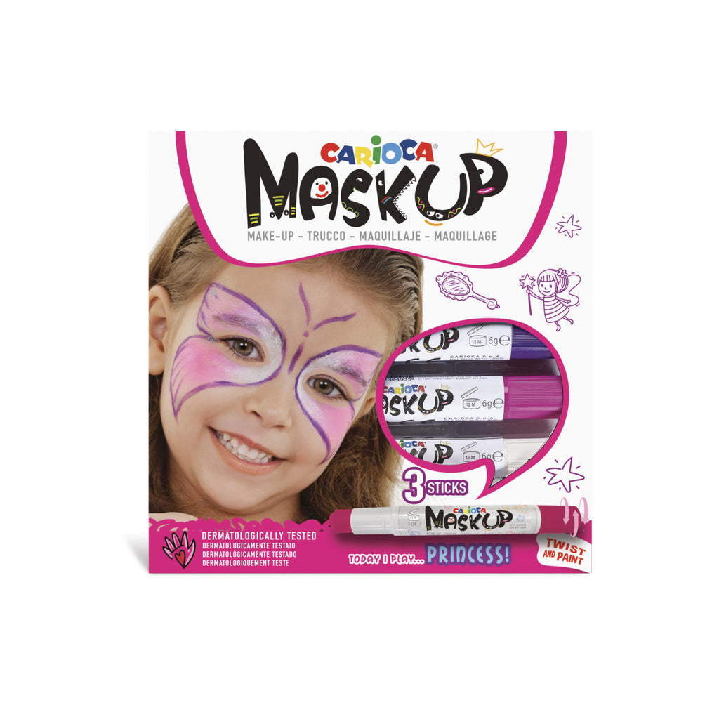 Colori per la pelle in Stick MASK UP PRINCESS - 3 pz