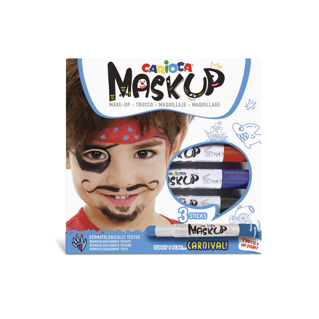 Colori per la pelle in Stick MASK UP CARNIVAL - 3 pz