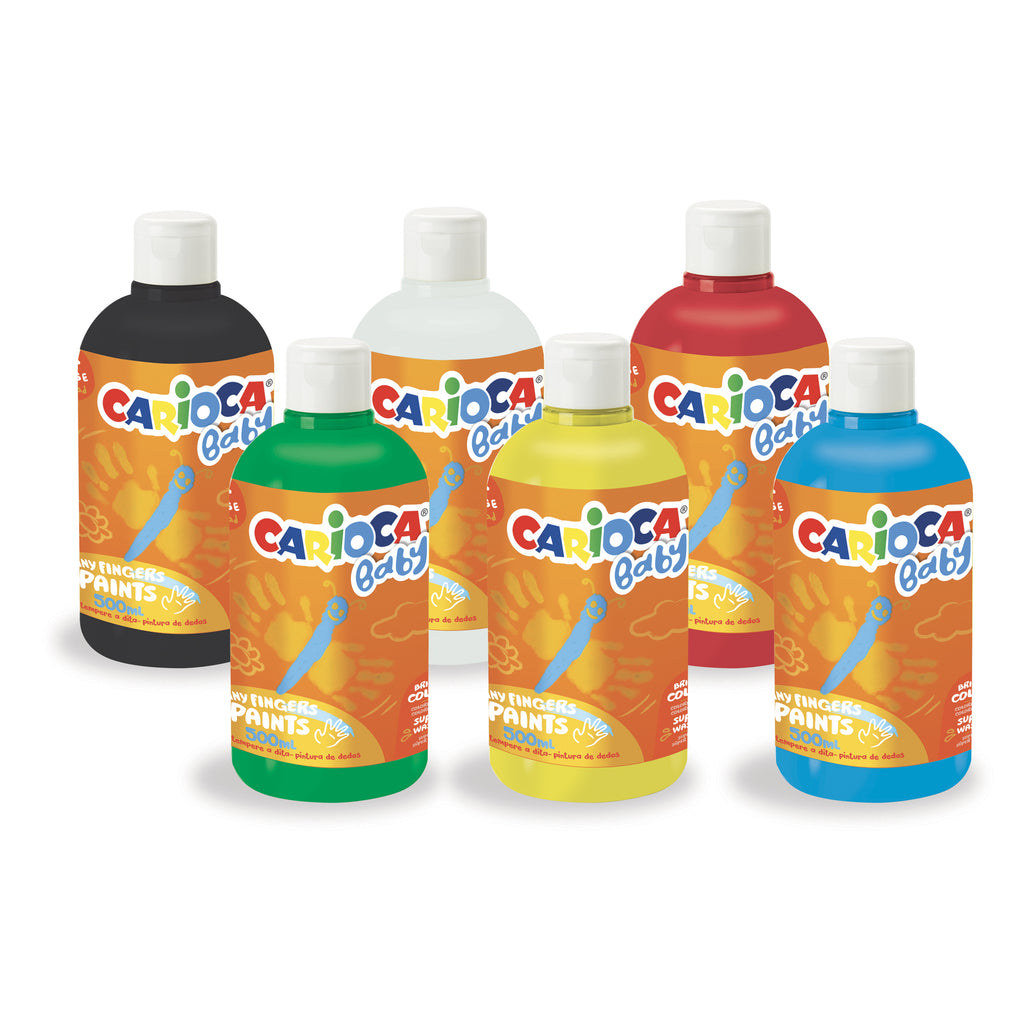 Tempera a Dita Superlavabile FINGER PAINTS BABY - 6 pz da 500 ml