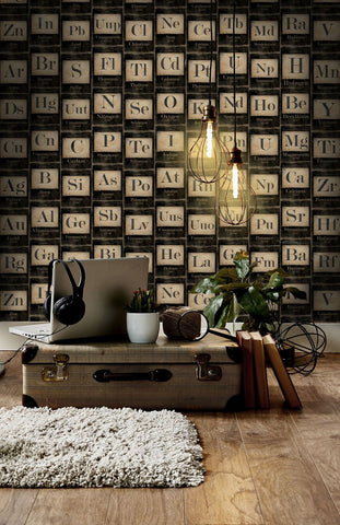 MindTheGap Periodic Table of Elements Wallpaper - Contract Furniture Store