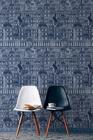 MindTheGap Louvre Blue Wallpaper - Contract Furniture Store