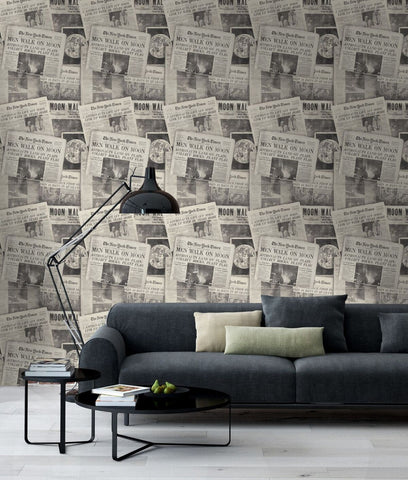 MindTheGap Moonwalker Neutral Wallpaper - Contract Furniture Store