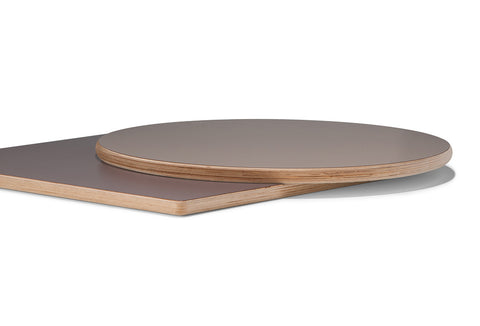 Laminate Table Top c/w Polished Plywood Edge