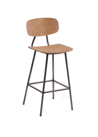 Florence High Stool c/w Metal Legs-Global Leisure-Contract Furniture Store