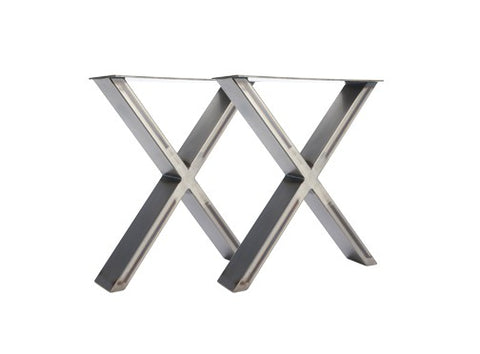 X-Frame Industrial Leg Bench Ends-Hairpin-Contract Furniture Store