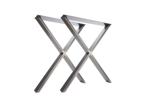 X-Frame Industrial Leg Dining Base-Hairpin-Contract Furniture Store
