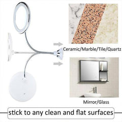 Wall-Mount Makeup Mirror