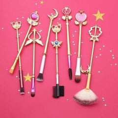 Sailor Moon Crystal Jewelry Makeup Cosmetic Brush Set
