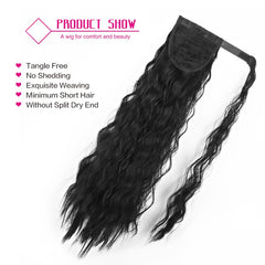 Long Wavy Synthetic Ponytail Extension Wrap Around