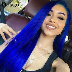 Straight Colored Lace Front Human Hair Wigs