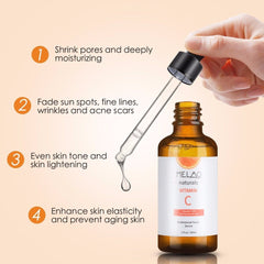 B Hyaluronic Acid Serum Contains 20% Vitamin C Natural and Organic Anti Wrinkle Face Serum