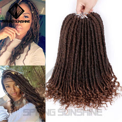 Soft Natural Soft Synthetic Hair Extension Goddess Faux Locs Crochet Braids