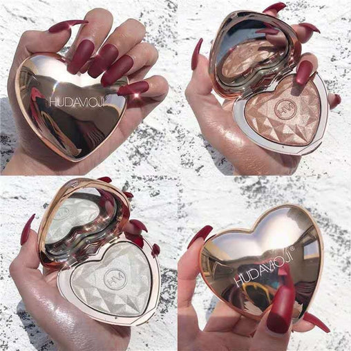Heart Shaped Love Light Highlighting Illuminator Glow Makeup