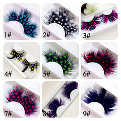 Polka Dot Feather Eyelashes 3D