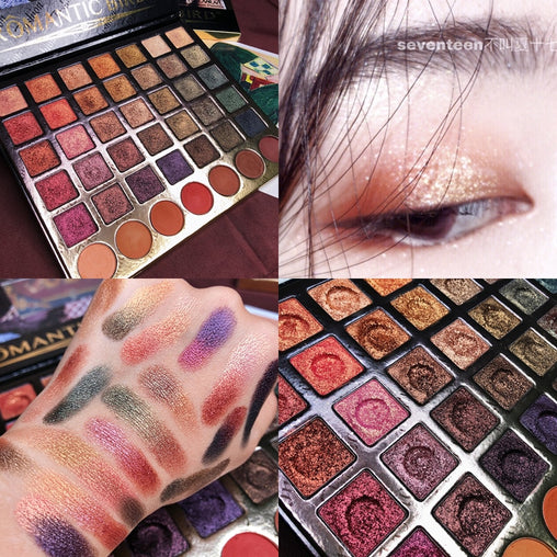 Shimmer Matte 42 Color Eyeshadow Palette Glitter Waterproof Metallic
