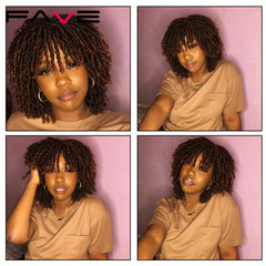Dreadlock Curly Twist Wig Short