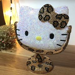 Rhinestone Hello Kitty Portable Makeup Mirror