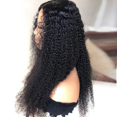 Kinky Curly Human Remy Hair 4x4 Lace Closure Wig