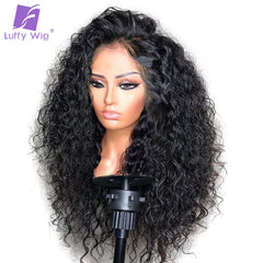 Glueless Curly Lace Front Wig Deep Part Preplucked