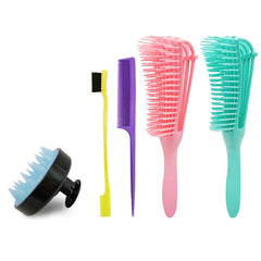 Flex Detangling Brush 5pcs Kit
