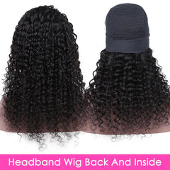 Water Wave Human Remy Hair Headband Wig