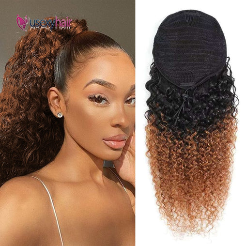 Curly Brazilian Human Hair Ponytail