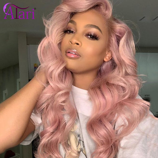 Body Wave Lace Front Wig Transparent Peruvian  100% Virgin Human Hair