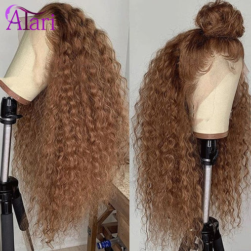Honey Blonde Curly Hd Lace Frontal Human Hair