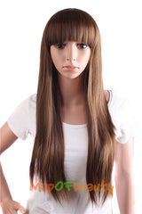 Long Straight Bangs Synthetic Hair 28 Inch