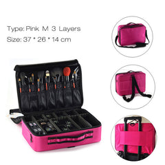 Fashion Cosmetic Bag Travel Makeup Organizer Professional