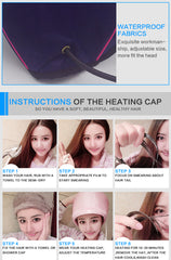Adjustable Temp Electric Heating Evaporation Hair Cap