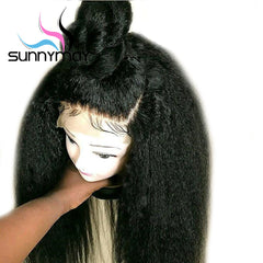 13x6 Kinky Straight Brazilian Remy Human Hair Lace Front Wig