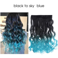 Ombre Long Clip In Hair Extensions