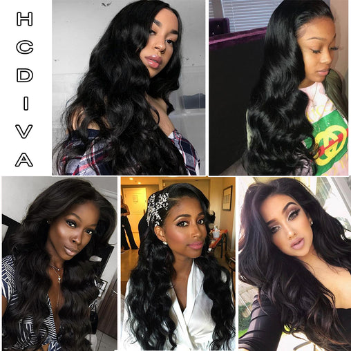Malaysian Body Wave 360 Lace Frontal Remy Human Hair Wig