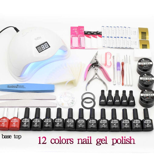 UV LED Lamp Gel Polish Manicure set