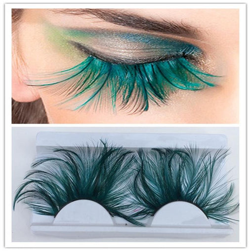 Dark Green Feather 3D Eyelashes