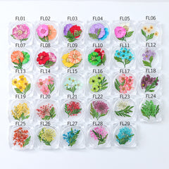3D Dry Real Flowers Nail Decoration