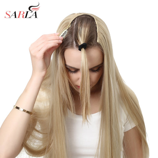 U-Part Clip Hair Extension Straight & Wavy