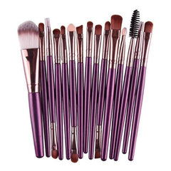 15pcs/set Pro Soft Makeup Brushes natural-synthetic