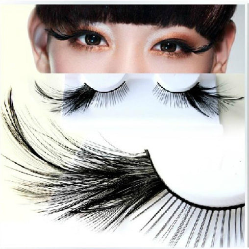 Black Feather Eyelashes