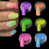 Fluorescent Nail Art Glitters Powder Dust