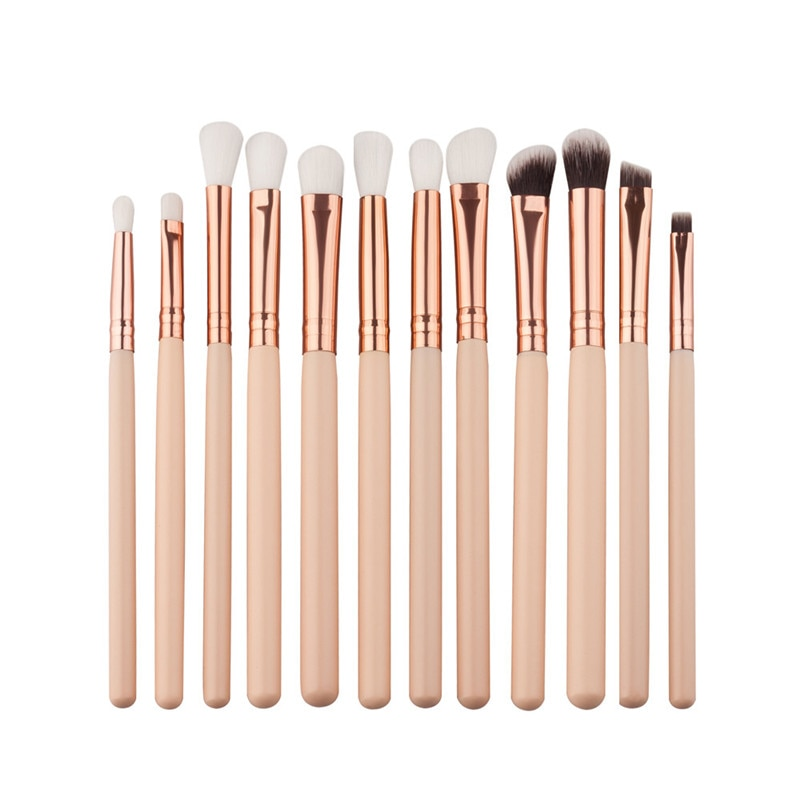 Eyeshadow Brushes Set Pro Beige 12pc