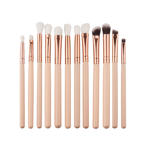 12pcs Eyeshadow Brushes Set Pro Beige