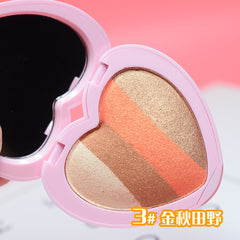 Four-color Heart-shaped Matte Eye Shadow