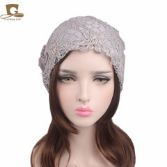 Metallic Lace Flower Slouchy Baggy Cap