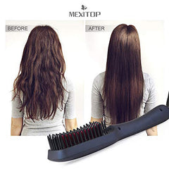 Ionic Hair Straightener Brush Comb
