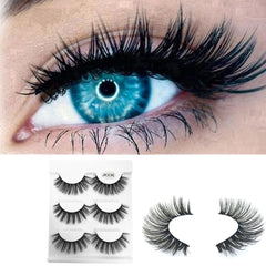 Black Terrier Fluffy Strip Eyelashes 3pc