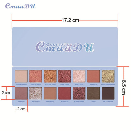 14 Color Waterproof Eyeshadow