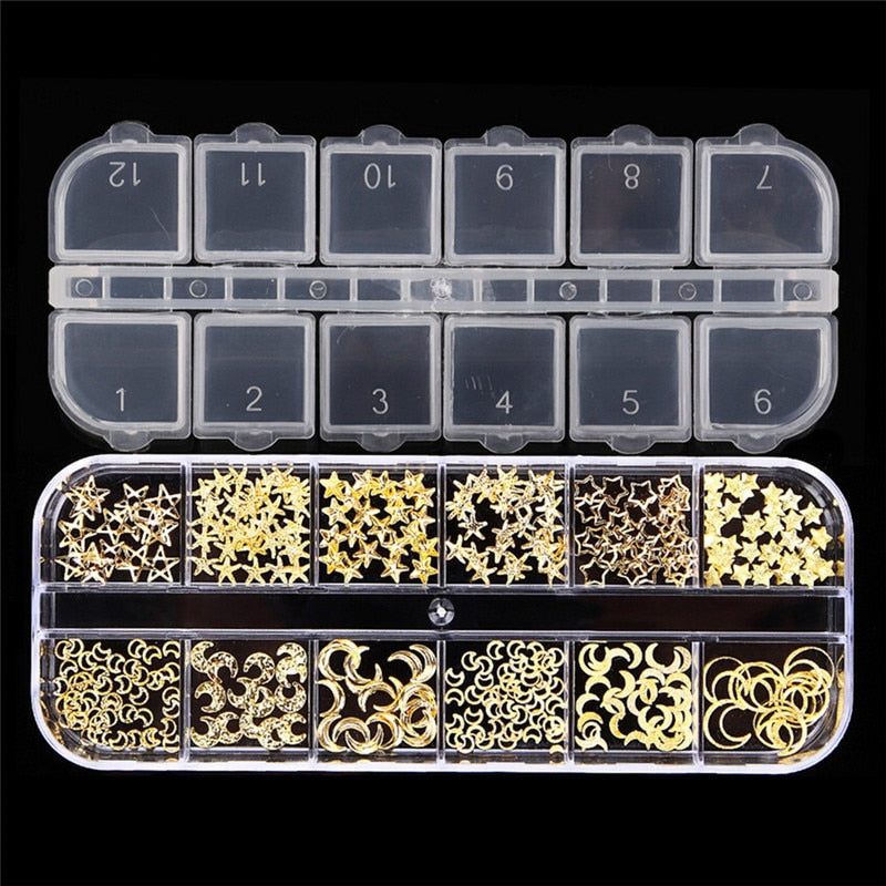 Gold Metal Nail  Decoration Kit